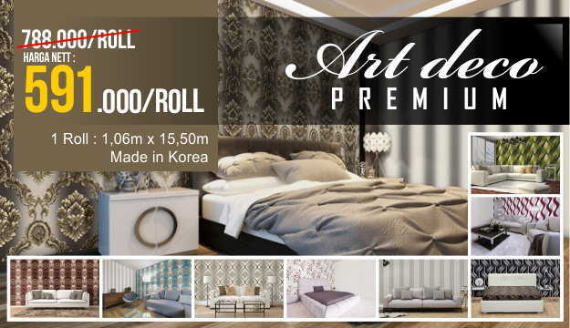 Wallpaper Korea Baru Art Deco Premium