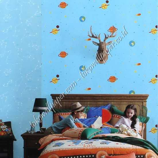 Sale wallpaper kamar anak planet